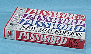 Password Game, 14th Edition, Milton Bradley, 1973