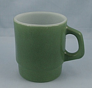 Fire King - Green Stackable Mug - #2