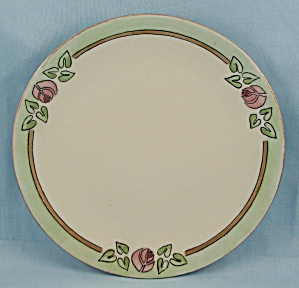 Artist Signed, Three Pink Roses Plate