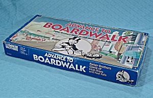 Advance To Boardwalk Game,parker Brothers, 1985