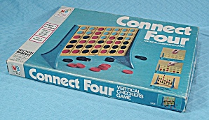 Connect Four Checkers Game, Milton Bradley, 1979