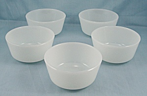 5-fire King, Anchor Hocking, Custard Bowls