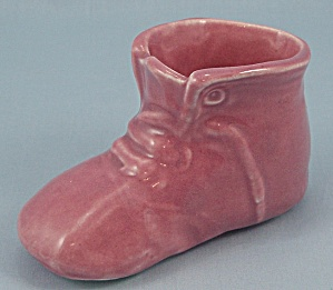 USA -  Mauve Baby Shoe, Planter (Image1)