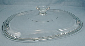 Pyrex, Replacement Lid � Large / Crystal / Oval/DC 1-1/2 C (Image1)