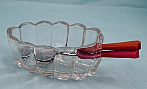 Spoon/ Fork Holder - Princess House Crystal Collection