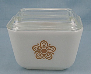 Butterfly Gold By Corning - Small Refrigerator Jar & Lid, 501b