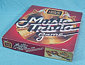 Solid Gold, Music Trivia Game, Ideal, 1984