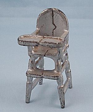 Kilgore Mfg. Co. – Cast Iron – Dollhouse Furniture- High Chair – Silver (Image1)