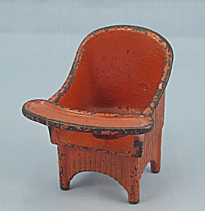 Kilgore Toy � Cast Iron �Sally Ann� Nursery Chair � Orange (Image1)