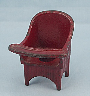 Kilgore Toy � Cast Iron �Sally Ann� Nursery Chair � Red	 (Image1)