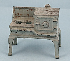 Kilgore – Cast iron – Dollhouse Furniture – No. T.-7 –Blue/ Gray, Gas Stove (Image1)