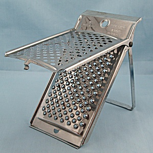 Inox – Brevettato – Made In Italy - Folding Grater, Stand (Image1)