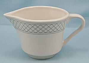 Homer Laughlin China Creamer- Gray Lines (Image1)
