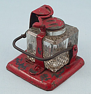 Unique Mechanical, Glass and Steel Inkwell (Image1)