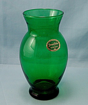 Anchor Hocking - Forest Green Vase
