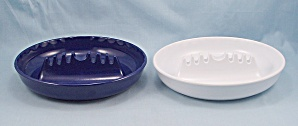 2 - Ges - Line 341 - Ash Trays - White & Blue