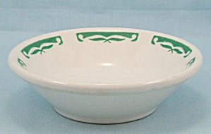 Homer Laughlin Small Bowl - Green Rim Trim