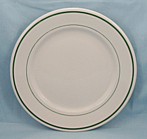 Buffalo China � 9-Inch Plate � Green Lines	 (Image1)