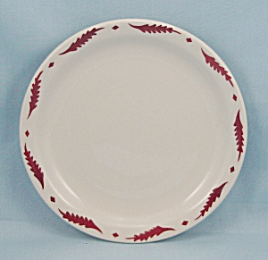 Sterling Vitrified China Plate, Bread & Butter, Rust Leaves