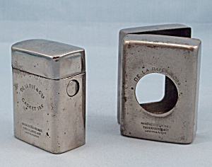 Traveling Inkwell, De La Rue Casket Ink, Nickel Plated Traveler, circa 1910 (Image1)