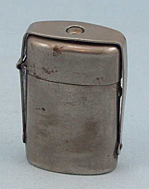 Traveling Inkwell with Stand, Nickel Plated Traveler, circa 1910 (Image1)
