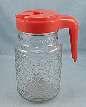 Anchor Hocking - Orange Plastic Lid - Tang/juice