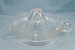 Crystal, Depression Glass Reamer, Patterned