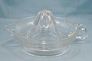 Crystal, Depression Glass Reamer, Patterned (Image1)