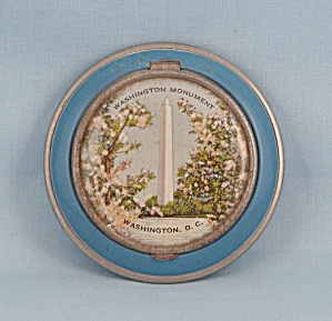 Vintage Washington D.c. Enameled Compact