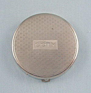Coty - Small Silver Tone Case