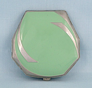 Clarice Jane, Enameled Compact - Art Deco Design