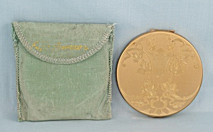 Elgin American � Round Gold-Toned Compact/ Bag	 (Image1)