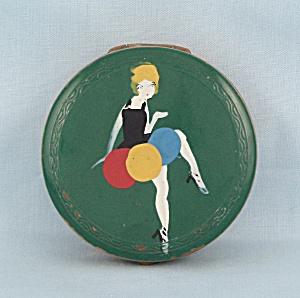 Round Art Deco Compact (Image1)