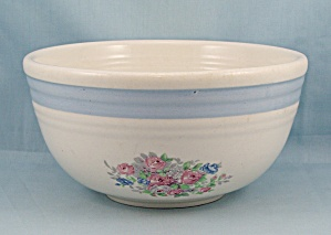 Bake Oven U.S.A. – Mixing Bowl – Floral, Blue Band (Image1)