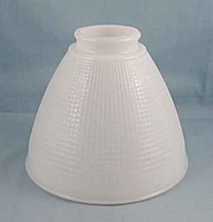 Textured Glass Torchiere – Light, Lamp Shade, Waffle Pattern (Image1)