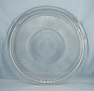 Jeannette Glass, Anniversary 11 Inch Cake Plate, Footed