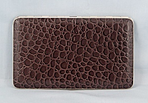 Cigarette Case, Comoy�s Of London, Faux Brown Alligator  (Image1)