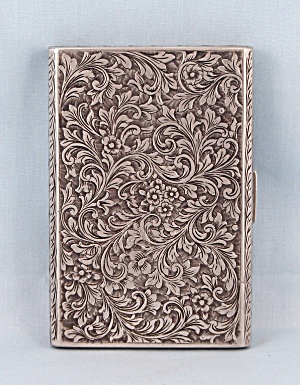 Cigarette Case, 800 Sterling � Intricate Scrollwork (Image1)