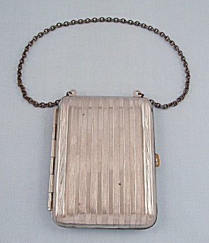 Silver-toned, Vintage Coin Holder, Wristlet