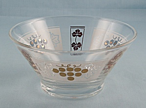 Dip Bowl, For Chip & Dip Set � Gold Grapes	 (Image1)