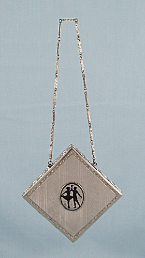 D.F.B. Co. Dance Purse, Silver-toned, Silhouette        (Image1)