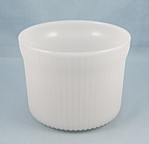 Breakstone's Dairy - Cottage Cheese Caddy, White Glass Container