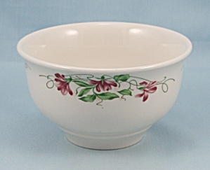 Homer Laughlin - Pink Violets, Open Sugar Bowl