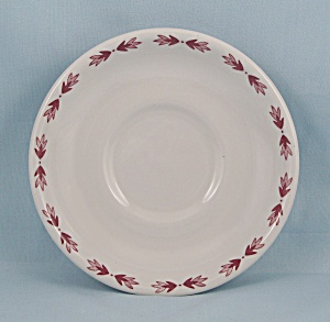 Shenango China Saucer - Red Laurentian
