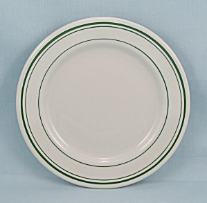 Small Plate � Green Lines � Trenle Blake China, #2      (Image1)