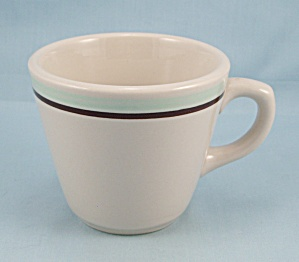 Shenango  Cup � Restaurant Ware � Brown & Blue on White (Image1)