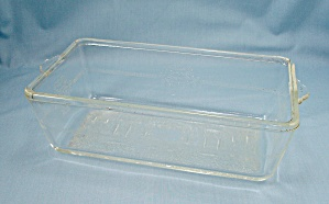 Glasbake Baking Dish- Poppy Pattern � Loaf Pan, Patn�d (Image1)