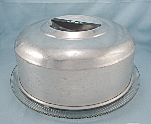 Kromex - Cake Plate And Cover, #2 - Spun Aluminum