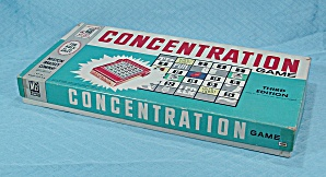 Concentration Game, 3rd Edition, Milton Bradley, 1960