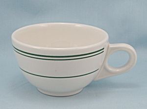 Homer Laughlin Cup - Restaurant Ware, Green Lines